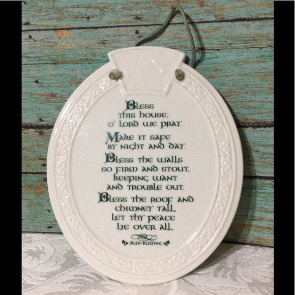 "Vintage Other - 🦋New Listing🦋Ceramic ""Irish Blessing"" Plaque"